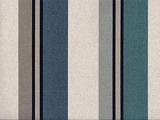 Swatch Sample Discount Fabric Richloom Upholstery Drapery Linen Morelli Denim Stripe RR13