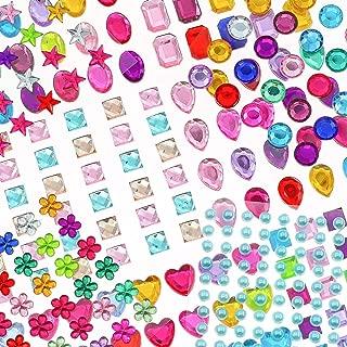 YIQIHAI 25 Sheets 1388pcs Rhinestones Stickers Self Adhesive Muticolor Jewels Stickers Crystal Gems Flatback Rhinestone for DIY Craft, Assorted Size