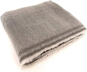 "Bodhiartistry Extra Soft Cashmere Wool Blanket/Throw - Made in Nepal Size 56"" x 102"""