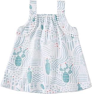 pureborn Infant Toddler Baby Girl Dress Cotton Sleeveless Princess Swing Dress