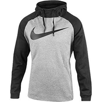 Cargado fama La cabra Billy  Amazon.com: Nike Therma Swoosh Essential Pull Over Sudadera con capucha  gris Heather/Negro 931991-063 Talla pequeña: Clothing