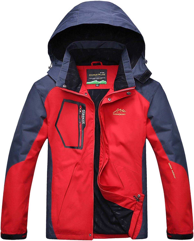 Men's Winter Snow Coats Waterproof Ski Jacket Fleece Lined Windproof Warm Snow Jacket with Hood 4 Pockets