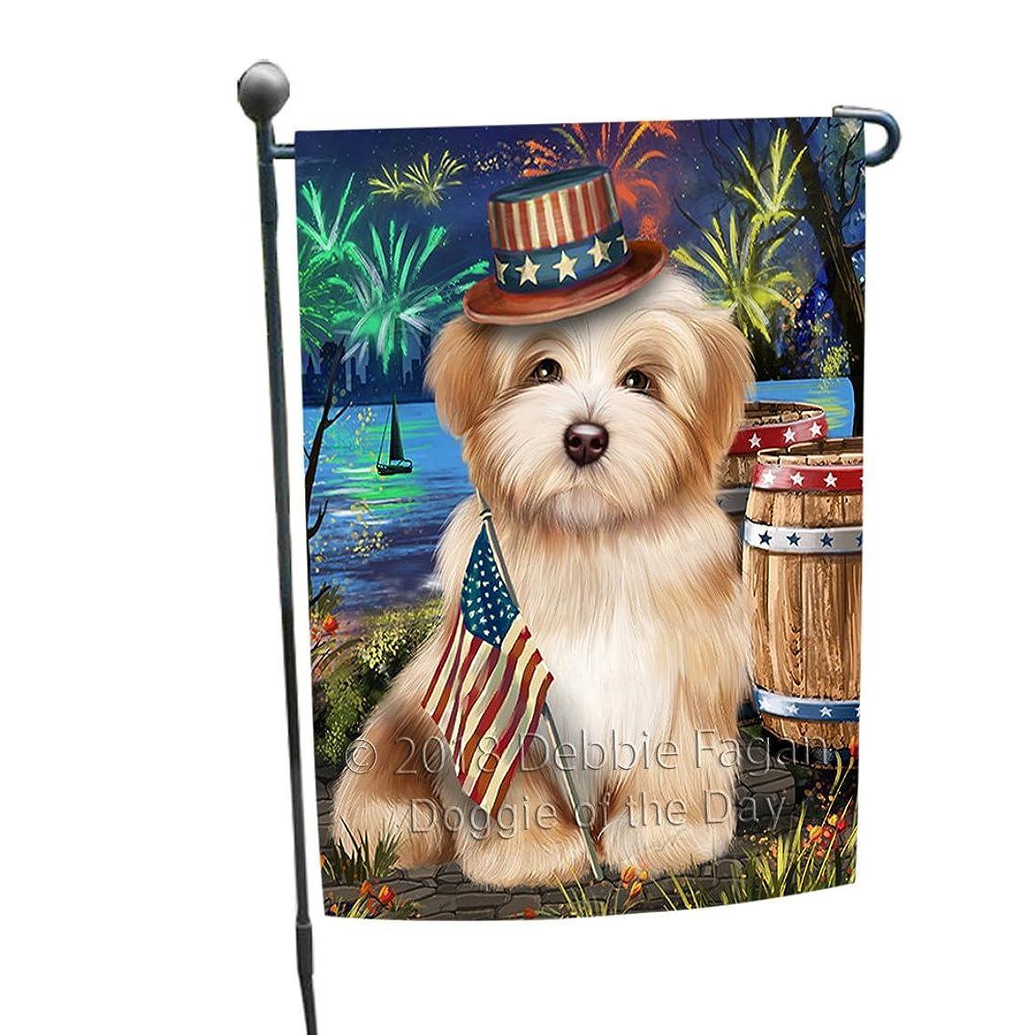 4th of July Independence Day Fireworks Havanese Dog at the Lake Garden Flag GFLG51091