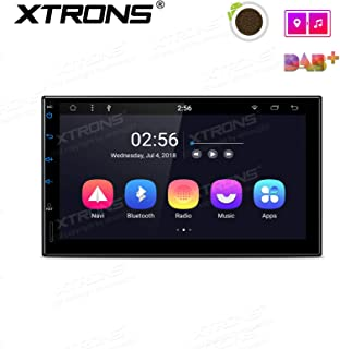 XTRONS Android 8.1 7 inch Multi-Touch IPS Display Octa-Core 2GB + 32GB Universal 2 DIN Car Head Unit Multimedia GPS Navigator Stereo Radio with USB SD Port Bluetooth 5.0 OBD DAB