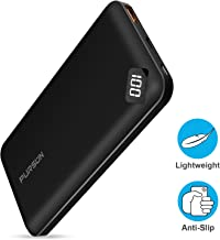 2020 Updated Ultra Compact 10000mAh Fast Charge Power Bank with Dual USB A and USB C Ports,...