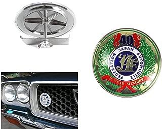 Japan Automobile Federation JDM JAF 40th Emblem Badge For Toyota Front Grille