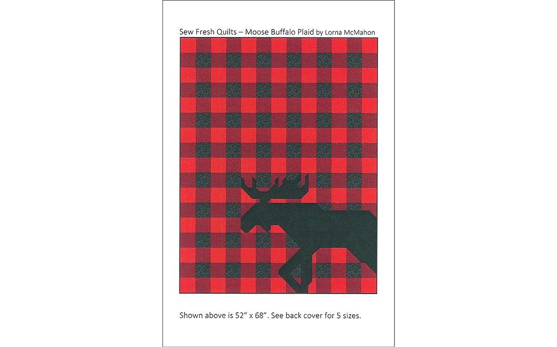 Sew Fresh Quilts MOOSEFRESH Buffalo Plaid Pattern Moose, None