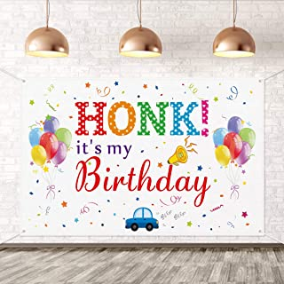 Large Happy Birthday Banner Sign- HONK IT'S My Birthday Banner- Birthday Party Banner for Kids,Yard Sign Decor,Outdoor Law...