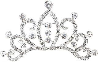 Frcolor Sparkling Crown Tiara Princess pettine fascia pettine per il compleanno di partito Cosplay