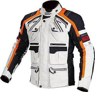 コミネ KOMINE バイク プロテクトフルイヤーツーリング ジャケット アウター プロテクター 透湿 防水 保温インナー Light Grey/Orange XL 07-593 JK-593