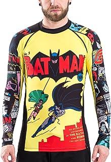Fusion Fight Gear Batman Number 1 Comic Compression Shirt Rash Guard