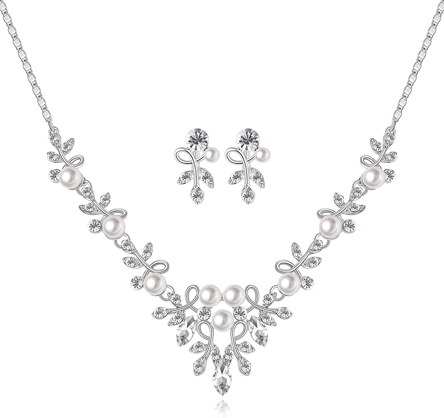 LILIEWHITE Bridal Jewelry Set for Pearl Rhines Limited time trial price Regular dealer Flower and Women