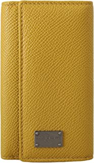 Yellow Leather Wallet Case Mens Finder Chain Keyring