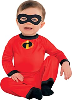 Amscan The Incredibles Baby Jack-Jack Halloween Costume for Infants, Disney, 12-24 Months, Includes Mask
