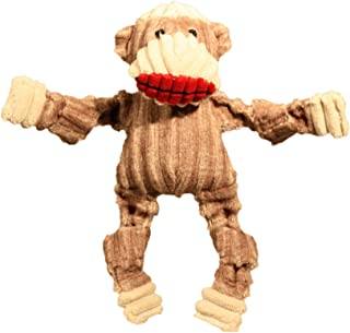 HuggleHounds Plush Corduroy Durable Sock Monkey Knottie Dog Toy