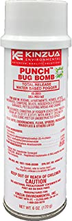 Kinzua Environmental (6 oz) Punch Bug Bomb   100% Kills Mosquitoes, Cockroaches, Fleas, Ants, Houseflies & More   Commercial-Grade Fogger   Easy-to-Use   Non-Staining, Water-Base Formula (6 oz)