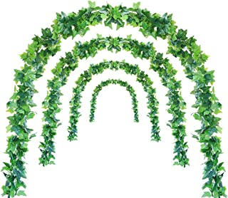 Luyue Vines Artificial Ivy Garland 5 Strings 44ft Fake Hanging Green Plants for Wedding Home Party Patio Garden Outdoor Indoor Decorations