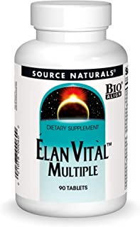Source Naturals Elan Vital Multiple - Supports Brain, Heart, Liver, Immune, Energy Boost - 90 Tablets