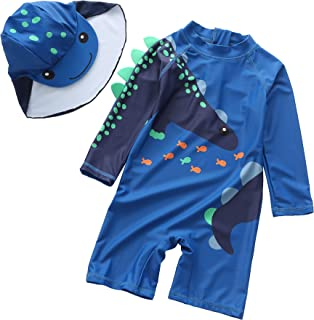 Baby Toddler one Piece Sunsuits with Sun hat Kids Zipper...