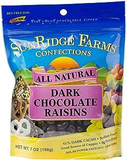 SunRidge Farms Dark Chocolate Raisins 12 Ounce Bag (Pack of 12)