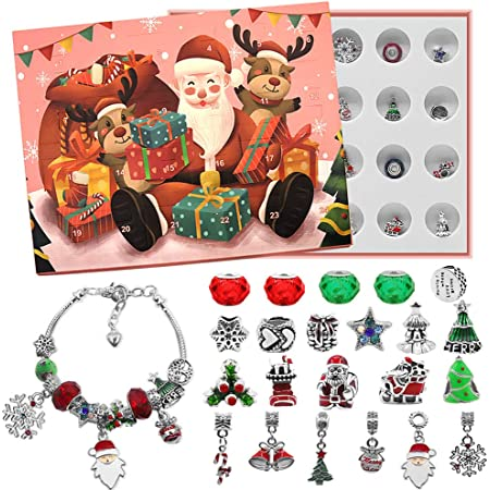Advent Calendar 2020 Christmas Countdown Calendar Decoration Gift Box Set of 24pcs Brain Teaser for Count Down Xmas Holiday D/écor Party Favor Kids Adults Challenge Metal Wire Puzzle