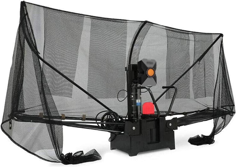 Máquina de robot de tenis de mesa, máquina de robots de ping pong de mesa con red de captura para entrenamiento, robot de tenis de mesa automático ping pong máquina de robot para entrenamiento