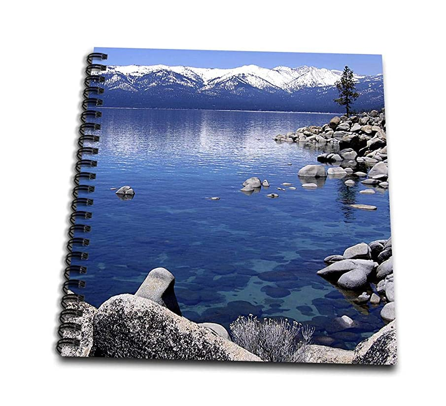 3dRose db_21901_1 Tahoe Snow MTS-Drawing Book, 8 by 8-Inch
