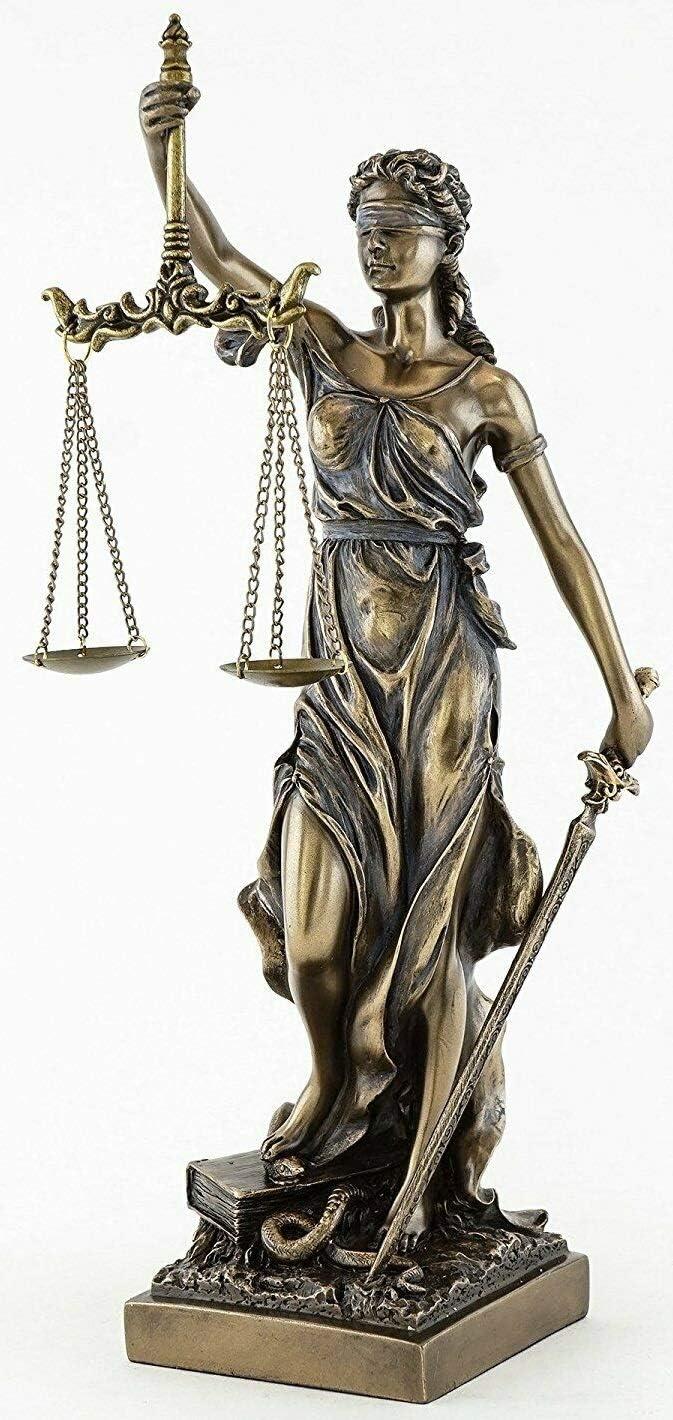 Sale special price JFSM INC. Blind Max 55% OFF Lady Justice Statue Sculpture Godd Roman Greek -