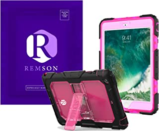 Apple Ipad 10.2 (2019) Remson Rugged Shockproof Drop Protection with Kickstand/Shoulder Strap Cover (Clear Rose)