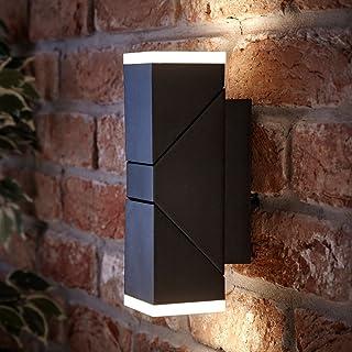 Biard Aplique Ziersdorf 13W LED IP54 Interior Exterior Orientable Cuadrado Negro – Jardín Baño Resistente al