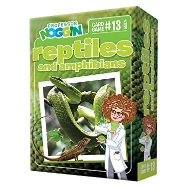Professor Noggin's Reptiles and Amphibians Trivia Card Game - an Educational Trivia Based Card Game for Kids - Trivia, True or False, and Multiple Choice - Ages 7+ - Contains 30 Trivia Cards
