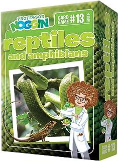 Professor Noggin's Reptiles and Amphibians Trivia Card Game - an Educational Trivia Based Card Game for Kids - Trivia, Tru...
