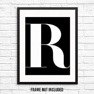 Alphabet Letters Monogram Initials Wall Art Print Poster -11