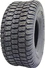 Deli Tire S-374, Turf Tread, 4 Ply, Tubeless, Lawn and Garden Tractor Tire (16x6.50-8)