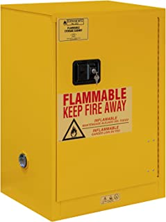 Durham FM Approved 1012M-50 Welded 16 Gauge Steel Fire Safety Manual Door Cabinet, 1 Shelves, 12 Gallons Capacity, 18
