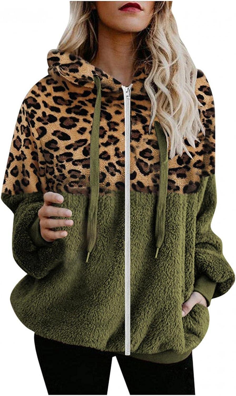 Toeava Sweatshirts for Women Casual,Oversized Sherpa Hoodie Zip