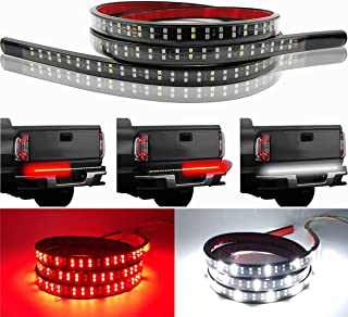 LivTee 60 Inch LED Truck Tailgate Light Bar Strip Super Bright Tail Brake Backup Reverse Turn Signal Running Lights for Pickup Trailer SUV RV VAN Car Towing Vehicle, Red/White