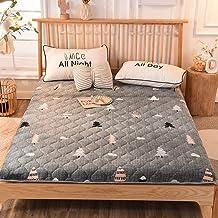 Plush Futon Mattress, Japanese Floor Mattress,Folding Tatami Floor Mat Portable Camping Mattress Kids Sleeping Pad Floor L...