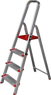 Escalera de Tijera de Aluminio Peldaño Ancho 12 cm (4 Peldaños con Ancho 12 cm)