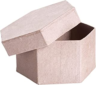 Darice Bulk Buy DIY Paper Mache Box Hexagon 4 x 4 x 2 inch (6-Pack) 2833-35