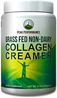 Collagen Creamer for Coffee - Grass Fed Non Dairy Best Tasting Keto and Paleo Friendly Organic Coconut MCT + Collagen Crea...