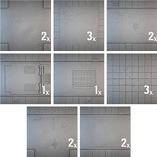 Miniatures Terrain Secret Weapon Miniatures Tablescape Tiles - Urban Streets, Clean (16)
