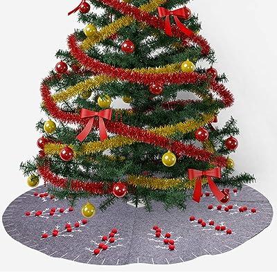 Myrdora Falda de árbol de Navidad de Planta Vintage de pie Azul de ...