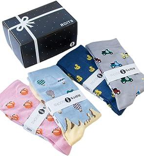 Roits, Pack Regalo 4 Pares Calcetines Mujer 36-40 - Calcetines de Dibujos Divertidos Originales Estampados