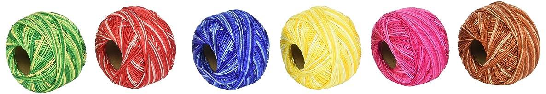 Prism PRIPEARLVAR Pearl Variegated Craft Thread (6 Pack)