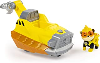 Paw Patrol 6058011 Mighty Pups Charged Up Rubble's Deluxe Vehicle with Lights and Sounds