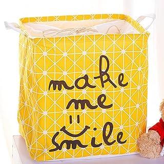 Anchang Grand panier à linge bac de rangement pliable panier à linge pour enfants, vêtements, décor de chambre d'enfant,jaune