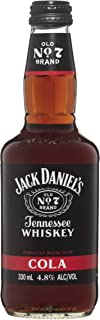 Jack Daniel's Tennessee Whiskey and Cola Premixed Bottles, 330 ml (Pack Of 24)