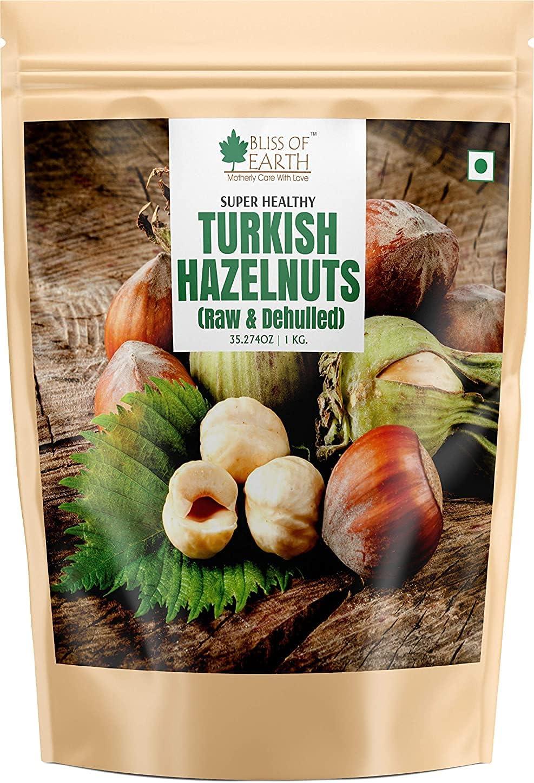 Bluenile Bliss of Earth 1kg Hazelnuts Super intense SALE Virginia Beach Mall Turkish Dehulled H Raw