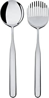 Alessi Collo-Alto Salad Set in 18/10 Stainless Steel Mirror Polished, Silver